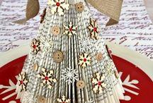 papierový vianočný stromček
