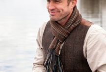 Stylish Irish Mens Fashion / Whether you want to dress up or down this Irish vest, scarf and cap ensemble will make for a well dressed man.