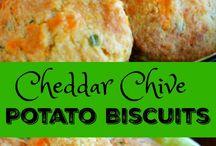 Chedder potato biscuits