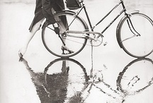 Woman and bicycles