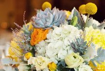 orange yellow wedding flowers