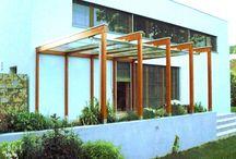 moderní pergoly - glazed pergola - architecture glazed pergolas / neobvyklá technologie pergolových staveb a jejich zasklení sklem