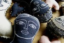 Textile art dolls