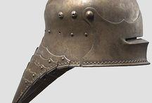 Armor, helmets, swords and shields