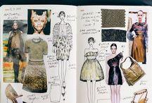 Sketchbook and portfolio