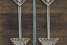 yarn/string art