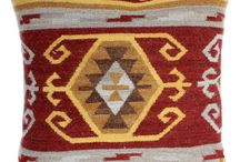 Bashian Home Kilim Pillows & Poufs Collection / Bashian Home has designed a beautiful collection of Kilim pillows and poufs. Bring color and texture into your home with one of these gorgeous patterns.