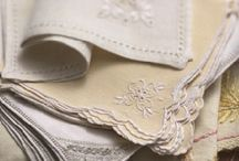 linen, lace / Beautiful vintage linen perfect for setting a table.