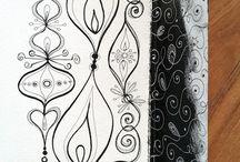 Art: Doodles & tangles / abstract drawing and op-art: inspirations/ideas/tutorials
