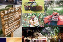 Festival bruiloft / Bezig met het organiseren van een festival bruiloft? Check hier snel leuke inspiratie voor jullie 'festival bruiloft'!