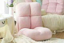 Pastel Minimalist Interiors / #pastel #housedesign #sofa #livingroom #japanese