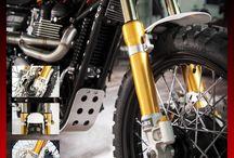 Triumph Motorcycles / New R&T Conventional Front Fork plus Triple Tree Kit #Triumph #Bonneville #Scrambler #Thruxton   For info sales2@andreanigroup.com