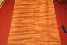 Curly Redwood Guitar Billets / These Curly Redwoof Guitar Billets have all gone out to various Luthiers through out the world to be made into exquisite eletric guitars, basses and ukulele's.