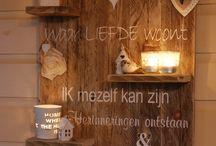 Wanddecoratieborden / Mooi voor aan de wand en te decoreren naar je eigen smaak. www.eenkadootjeisaltijdleuk.nl