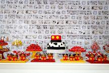 Festa Mickey Mouse / Festa Mickey Mouse. Festa vermelho e amarelo. Turma do Mickey.