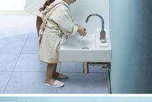 Wudhu Area in Bathroom