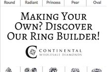 Build a Ring! / Build your own engagement ring with tips, facts, figures, and styles from our jewelry designers plus worldly inspiration!
