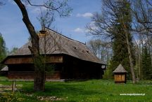 Stare polskie chaty, old polish cottages / Architecture