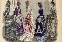 Fashion plates 1870's