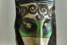keramické masky