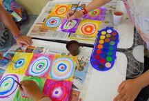 a scuola d'arte / Kandinsky, studio sul colore