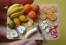 Miniature food / Mini fruits, plats,gâteaux