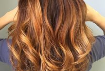 balayage ombre red
