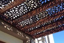 Wooden panel patio