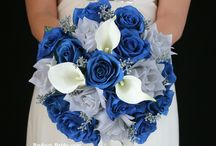 Grey and blue wedding