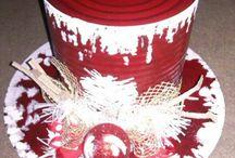chapeaux Noël en vinyl et conserves