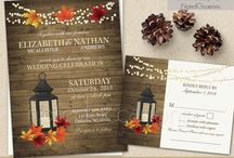 Falling In Love with Fall Weddings / Great fall wedding invitations from around the web and inspiring ideas for your autumn wedding decor, dresses, and fall wedding themes.