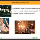 Celebrations and Festivals Vocabulary