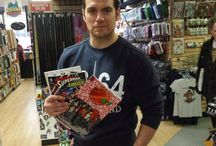 Henry Cavill  in New York 2016 / Henry Cavill aka #Superman visited Midtown Comics Grand Central & signed some comics for fans