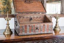 16th-17th century caskets,coffers and trunks
