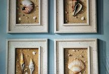 Shells in picture frames