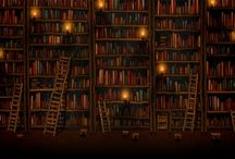 Books, Bookshelves and Libraries <3
