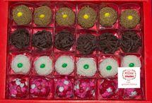 Brigadeiros gourmet caixa presente