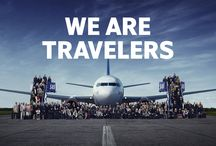 We Are Travelers / We fly with different expectations. And we all have one thing in common: flying is never only transportation. It's part of the journey, wherever the journey might take us.  Sound familiar? Then you're a true traveler. #wearetravelers