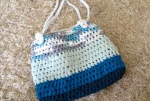 Crochet bag tshirt yarn / Crochet bag from old tshirt