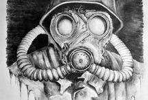 gas mask #3 tattoo