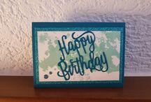 eigene Karten / #Happy BIRTHDAY