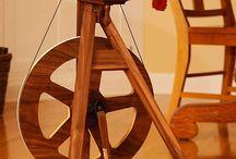 A Reise Spinnräder, journey spinning wheel / Bildersammlung von reise spinnrädern