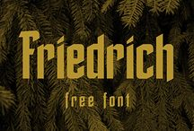 Friedrich - Free Font / free font, typeface, blackletter, Thuringian Forest