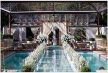casamento em cima da piscina