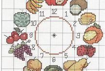 Frutas / Frutas de punto cruz en miniatura