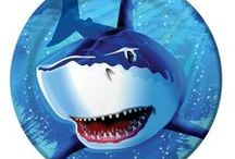 Shark Party Ideas and Decorations / Take a bite out of cool Shark Party Decorations! We have swam through many boards to find the best shark party decorations and shark theme party ideas, and added some of our own shark party supplies to complete your event.