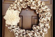 Chevron & Burlap  / DIY instructions for making burlap wreath
