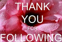 Thank You For Following me! / by Judy Mikeska