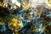 Original abstract paiting,resin painting, / My works,resin paiting,splash painting,modern abstract art,decorative art