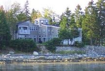 Hancock Maine Vacation Rental / Dwarika is located in Hancock only 40 feet from the edge of Frenchman's Bay with unsurpassed views of Acadia. This massive 4700 sq/ft, 4 bedroom and 3 full bath property has all the comforts you'll need for a super stay. Large, comfortable shore front house with wonderful views of Acadia and Frenchman Bay islands. Nicely furnished, decorated with finds from around the world. Spacious lawns, quiet places to read and reflect.  Please ask for any further details 1-888-291-3525 or 207-374-3500 / by vacation cottages